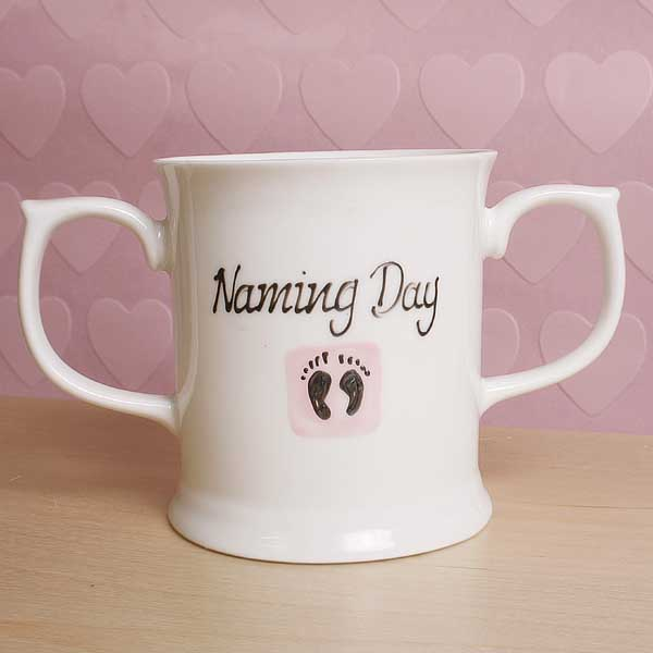 Naming Day Loving Cup - Pink - Naming Day Gifts