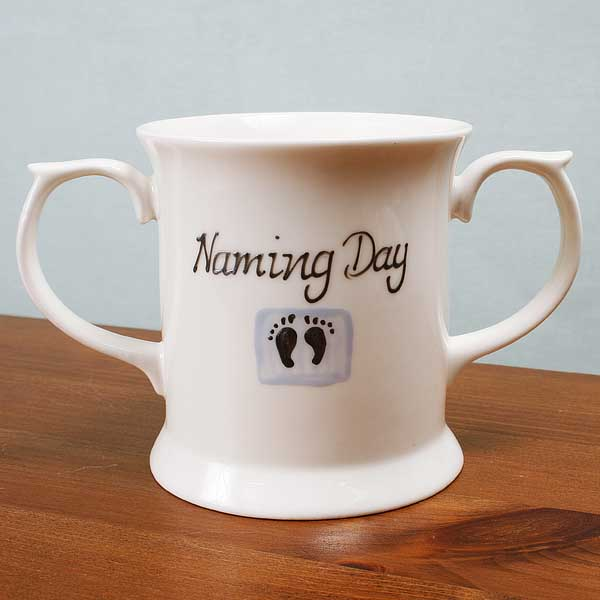 Naming Day Loving Cup - Blue - Naming Day Gifts