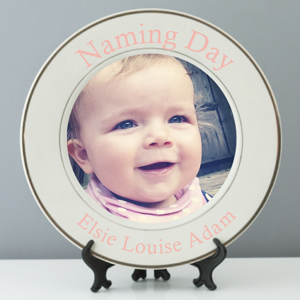 Personalised Naming Day Photo Plate - Naming Day Gifts