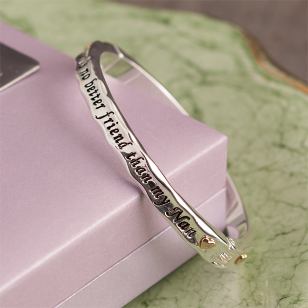 Nan Bangle in Personalised Gift Box - Nan Gifts