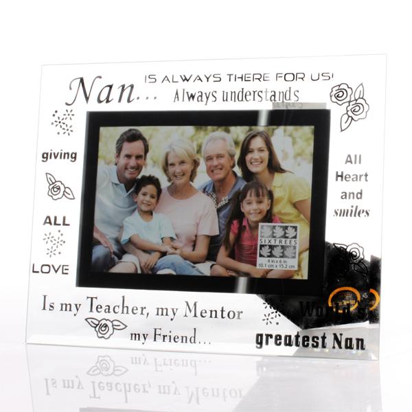 Nan Glass Photo Frame - Nan Gifts