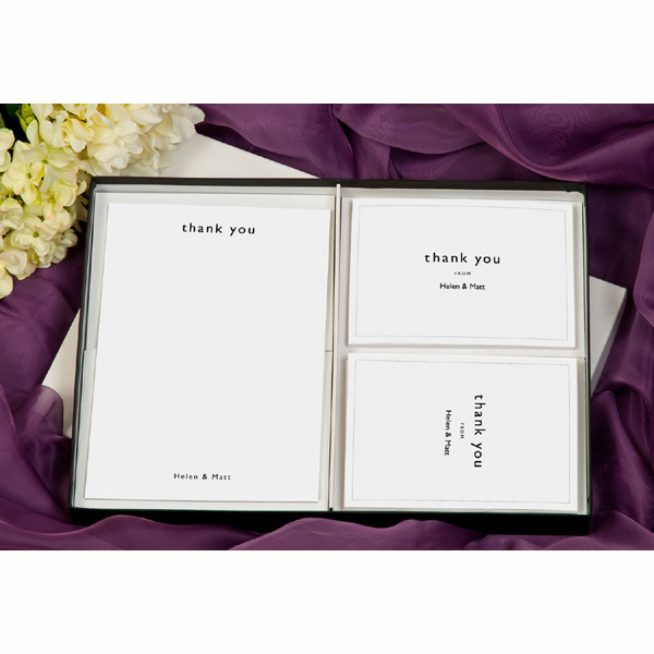 Natural Personalised Thank You Stationery Postcards And Cards