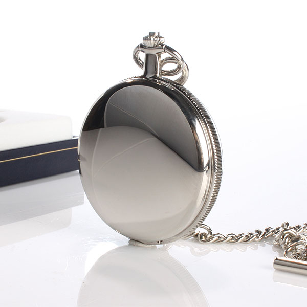 Personalised Chrome Pocket Watch With Sunburst Dial
