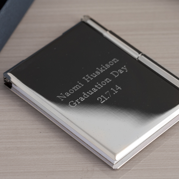 Engraved Pocket Notebook & Pen Set - Notebook Gifts