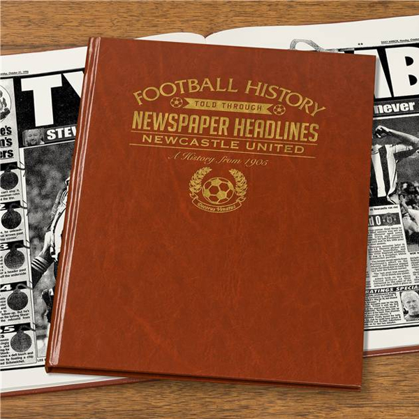 Personalised Newcastle United Football Book Embossed - Football Gifts