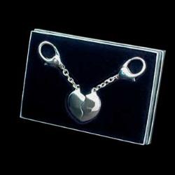2 Hearts Keyring