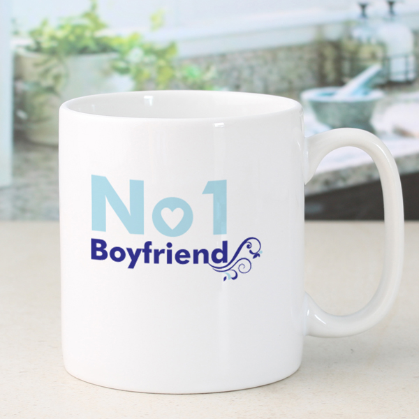 Personalised Number 1 Boyfriend Mug - 18th gift