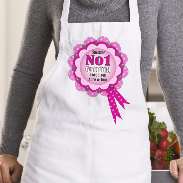 Number 1 Grandma Personalised Apron - Apron Gifts