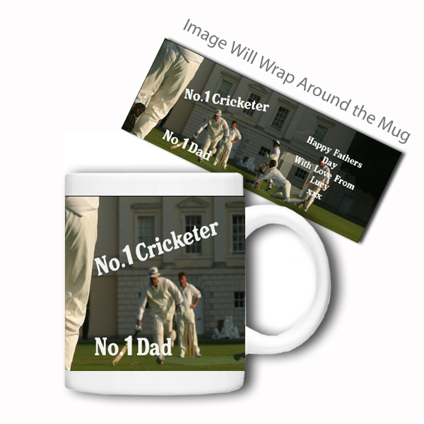 Personalised Sports Mug (No.1 Cricketer)