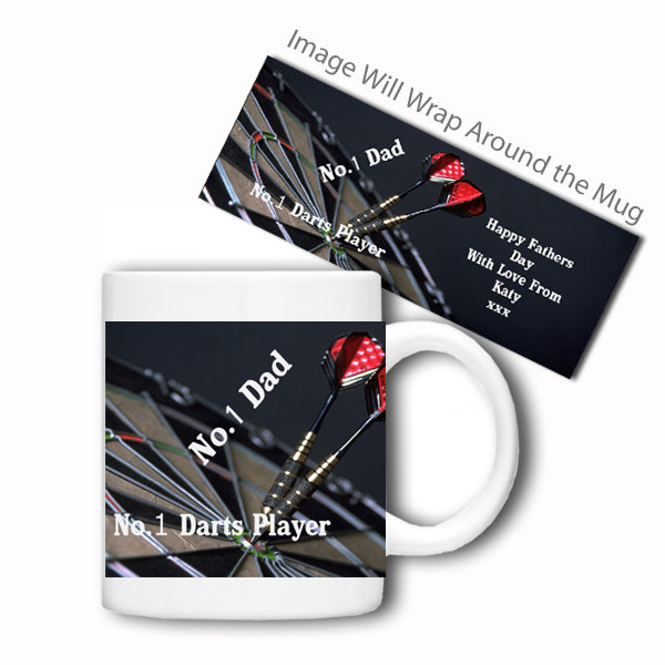 Personalised Sports Mug (No.1 Darts Player)