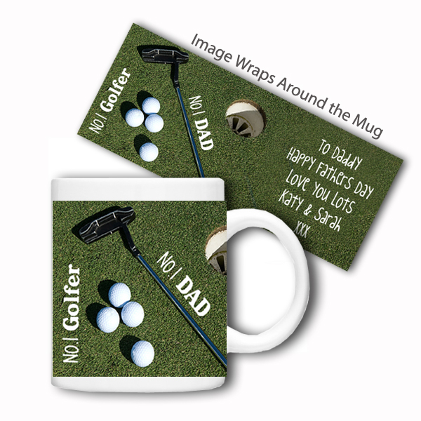 Personalised Sports Mug (No.1 Golfer)