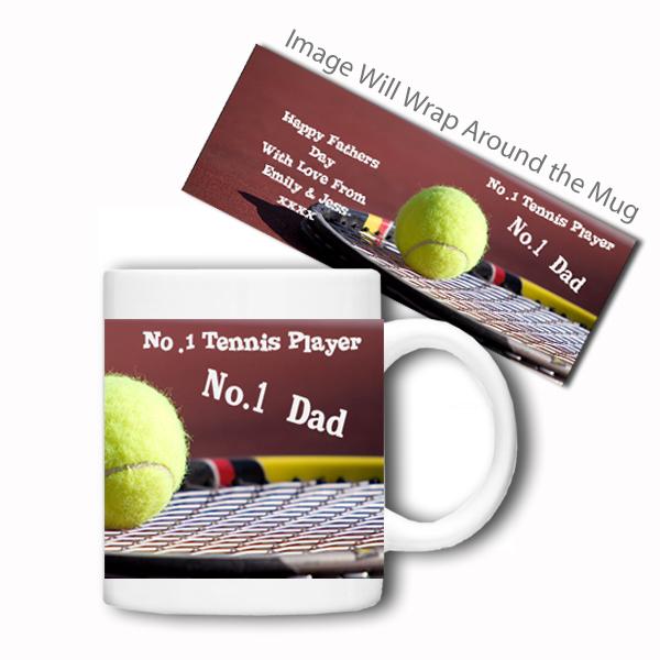 Personalised Sports Mug (No.1 Tennis) - Tennis Gifts
