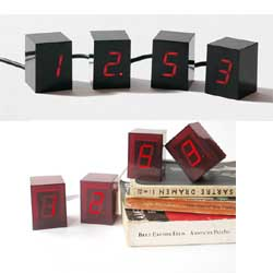 Numbers LED Clock Red