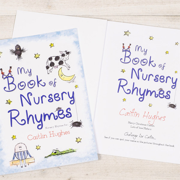 Nursery Rhymes Personalised Book Hardback - Nursery Gifts