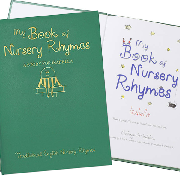 Personalised Hardback Classic Childrens Book - Nursery Rhymes - Nursery Gifts