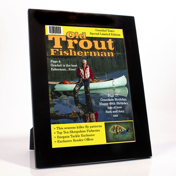 Personalised Fishing Magazine Cover - Fishing Gifts