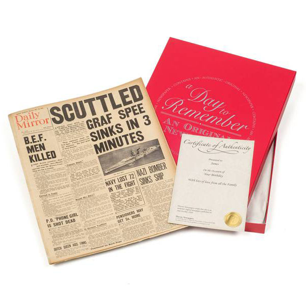 35th (Coral) Anniversary  Gift Boxed Original Newspaper