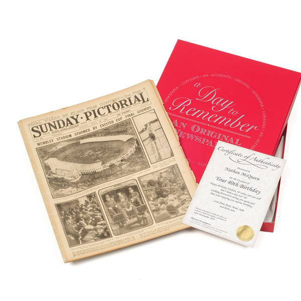 20th (China) Anniversary - Gift Boxed Original Newspaper - China Gifts