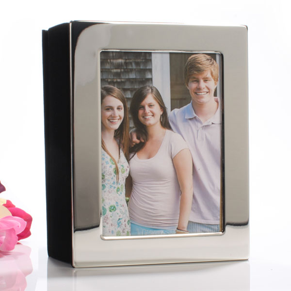 Engraved Silver Plated Photo Album 5 x 7 - Photo Album Gifts