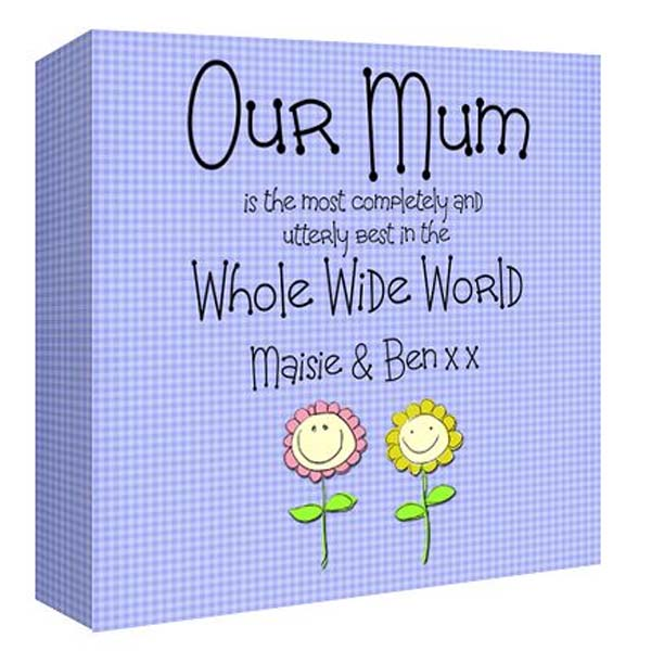 Our Mum Personalised Canvas Print 8 By 8 Inch
