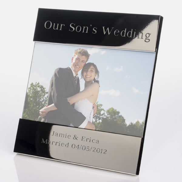 Engraved Our Sons Wedding Photo Frame