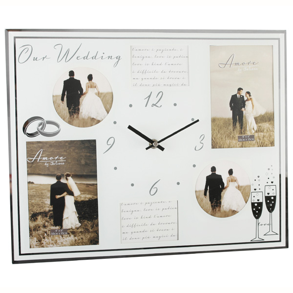 Glass Wedding Wall Clock best price comparison - Check Web Prices