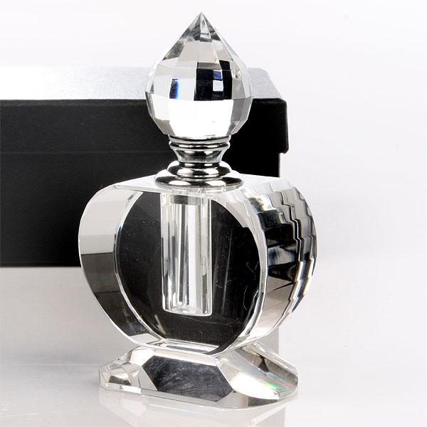 Image of Oval Crystal Perfume Bottle