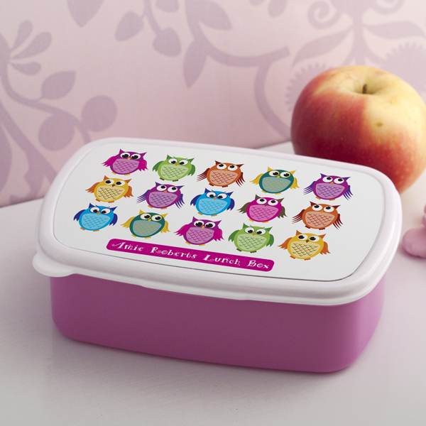 Personalised Owls Lunch Box