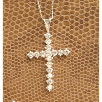 CZ Multi Stone Cross