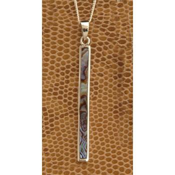 Abalone Long Thin Pendant