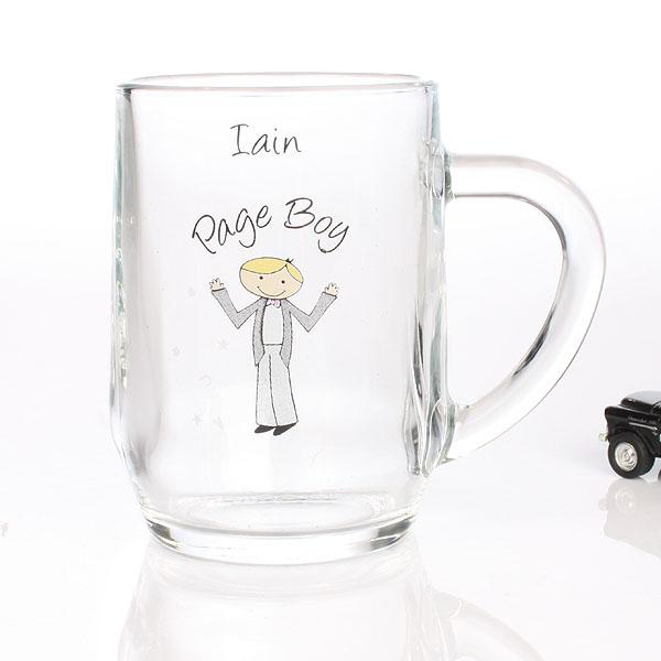 Page Boy Cartoon Character 1/2 Pint Tankard - Cartoon Gifts