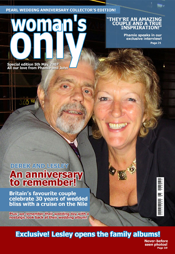 Pearl Anniversary Personalised Magazine Cover