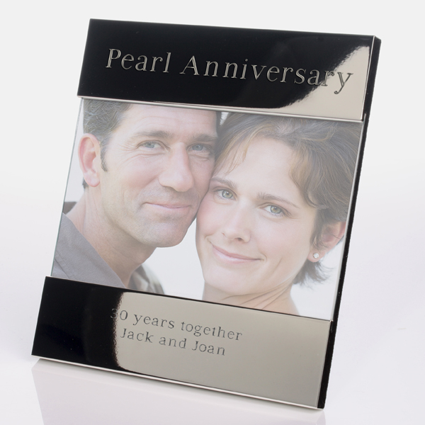 engraved pearl anniversary photo frame - Engraved Photo Frame