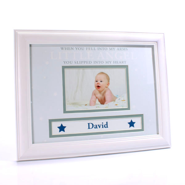 Personalised Baby Boy Photo Frame - Baby  Birthday Your Baby Gifts - Boys - 3-6 months