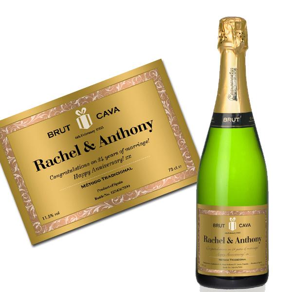 Personalised Cava Luxury Gift Box