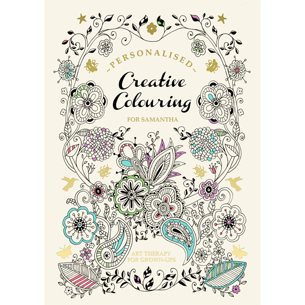 Personalised Creative Colouring for Grown-ups Softback