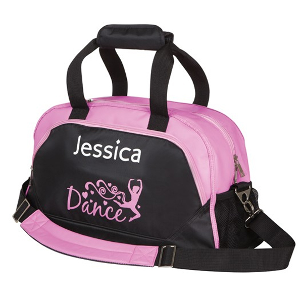 Personalised Pink & Black Dance Bag