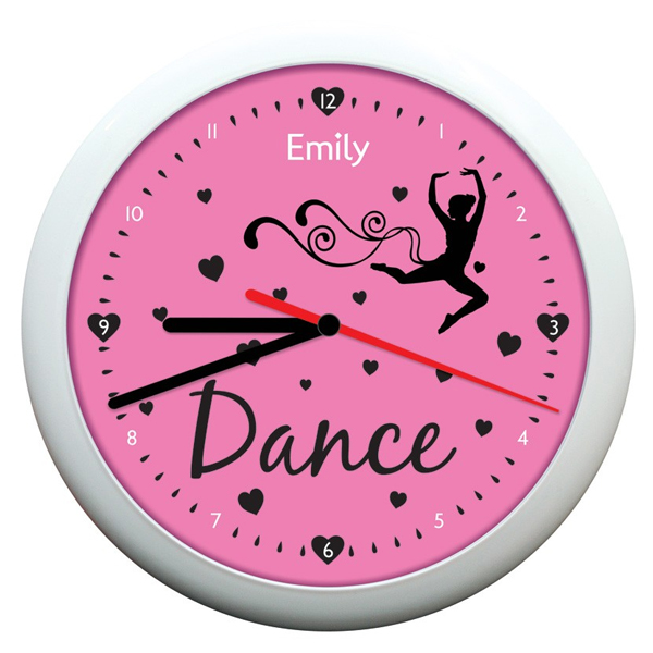 Personalised Dance Clock - Dance Gifts