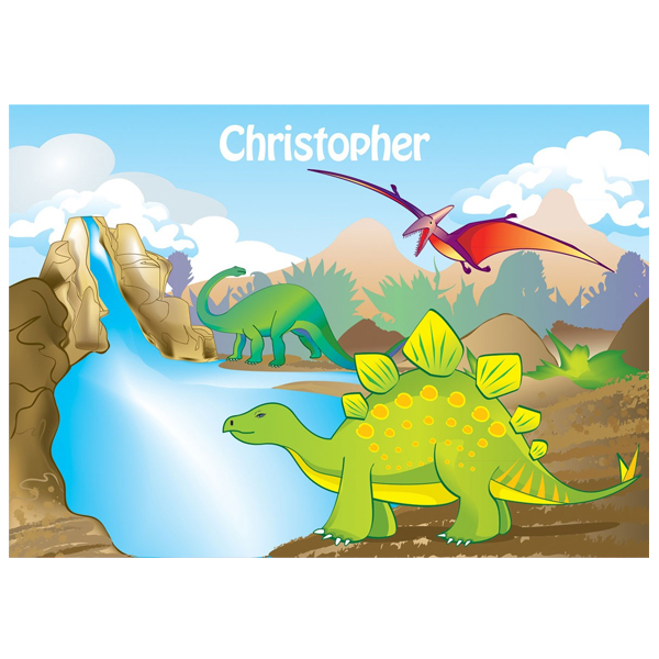 Personalised Dinosaur Placemat - Dinosaur Gifts