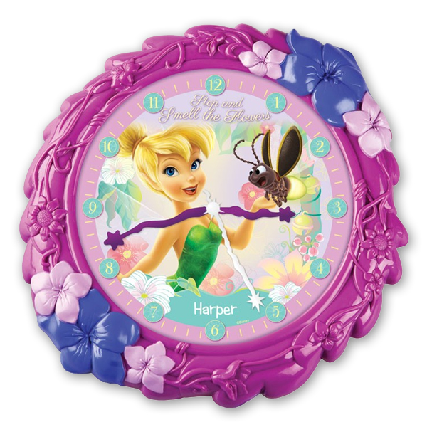 Personalised Disney Fairies Flower Clock