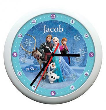 Personalised Disney Frozen Snowflake Clock