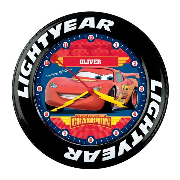 Personalised Disney Pixar Cars Piston Cup Shaped Clock
