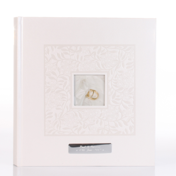 personalised ivory wedding rings photo album