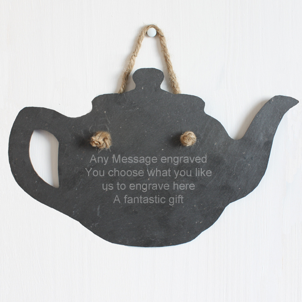 Personalised Slate Teapot - Teapot Gifts