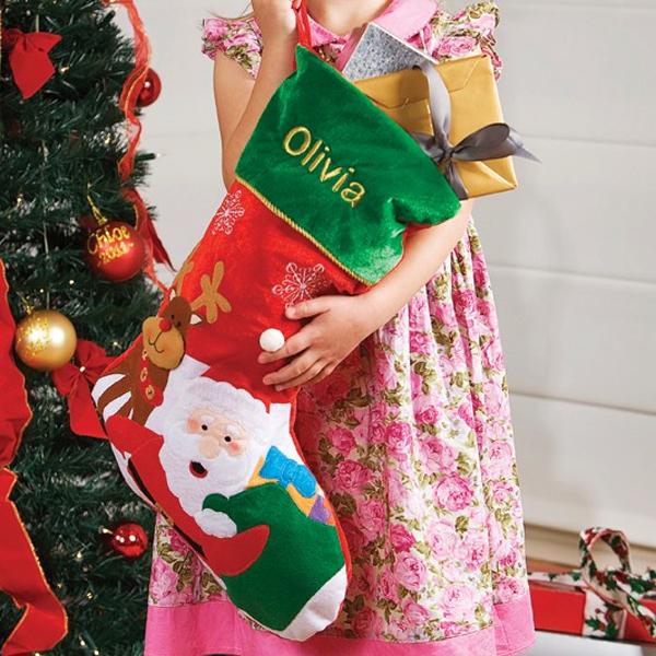 Personalised Santa and Reindeer Stocking