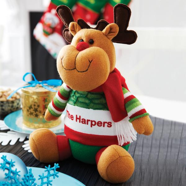 Personalised Sitting Reindeer Figure - Reindeer Gifts