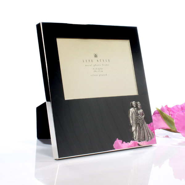 Personalised Silver Plated Wedding Photo Frame