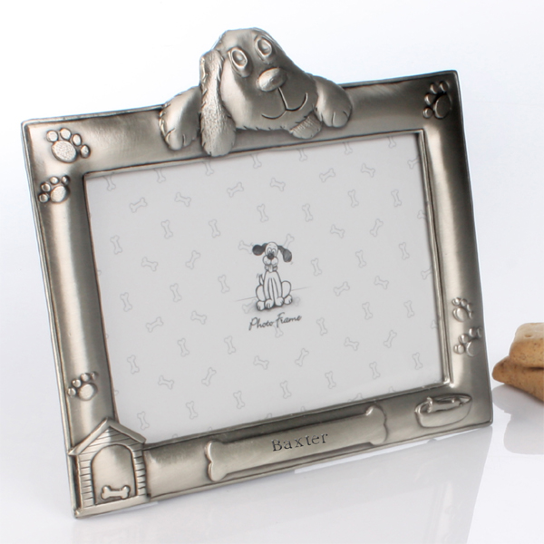Personalised Antique Finish Dog Photo Frame - The Gift Experience Gifts