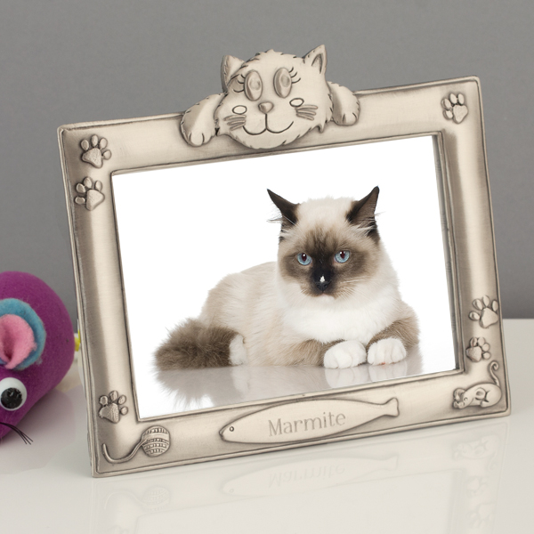 Personalised Antique Finish Cat Photo Frame - Photo Frame Gifts