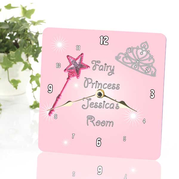 Fairy Princess Personalised Clock